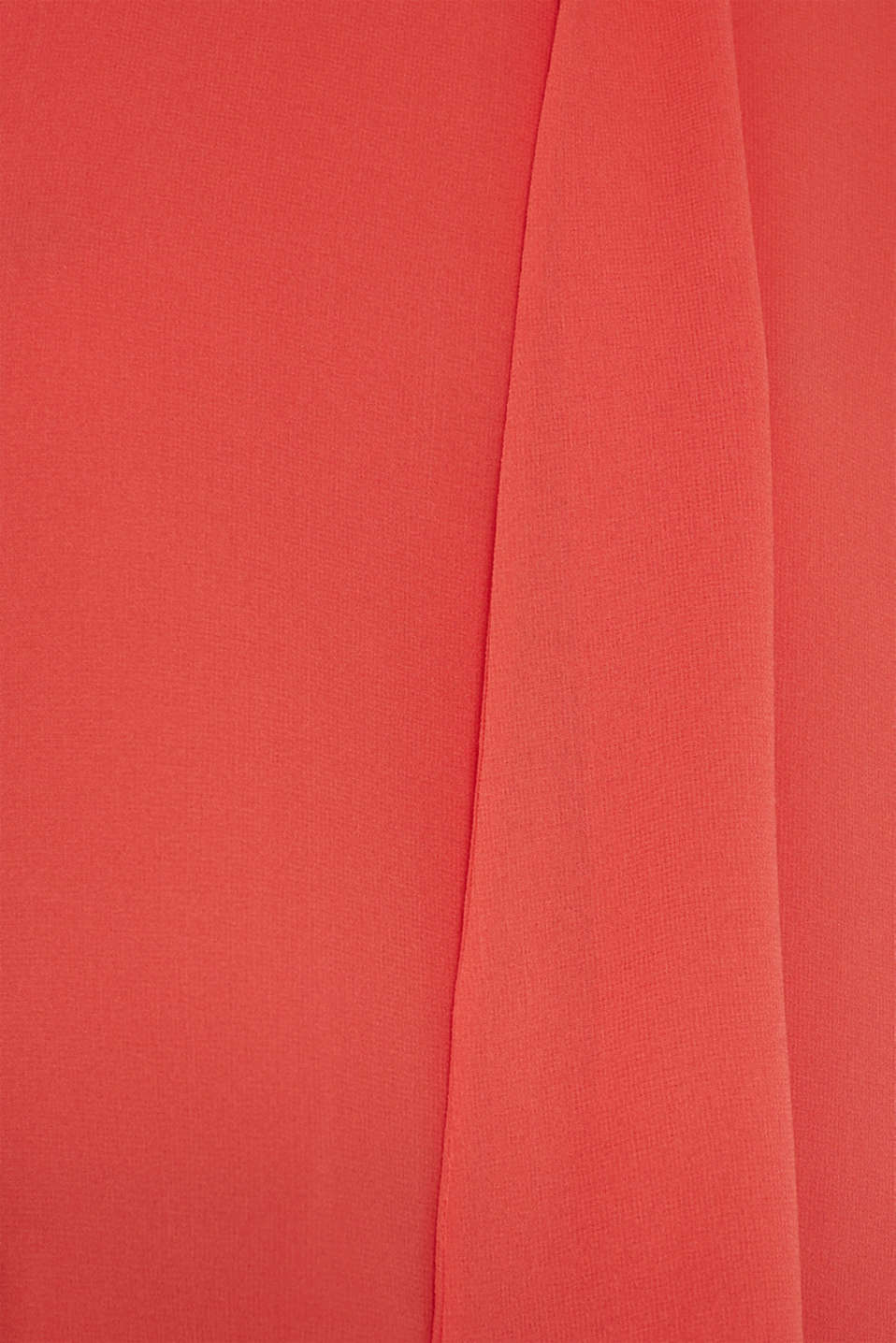 Chiffon blouse with a pussycat bow, TERRACOTTA, detail image number 4
