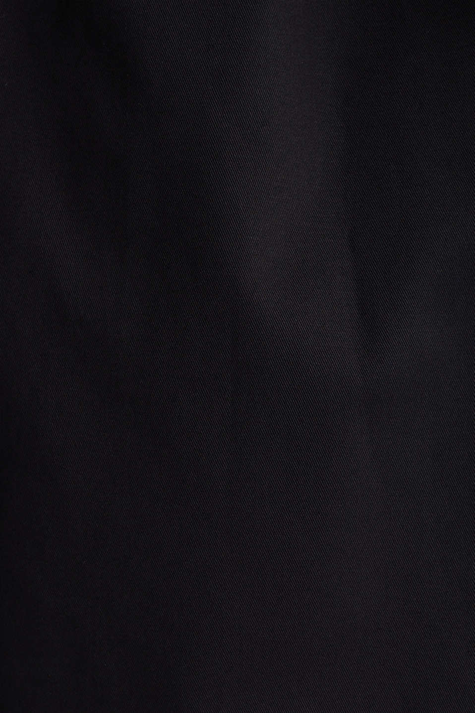 Cotton coat with a high stand-up collar, BLACK, detail image number 4