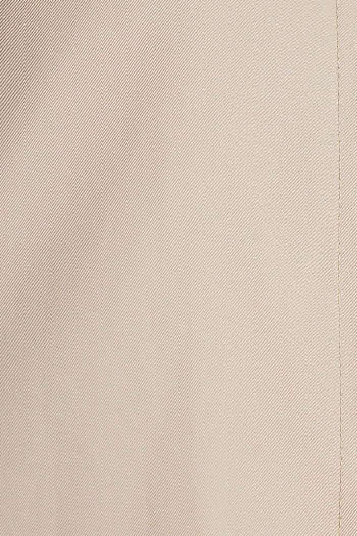 Cotton coat with a high stand-up collar, BEIGE, detail image number 4