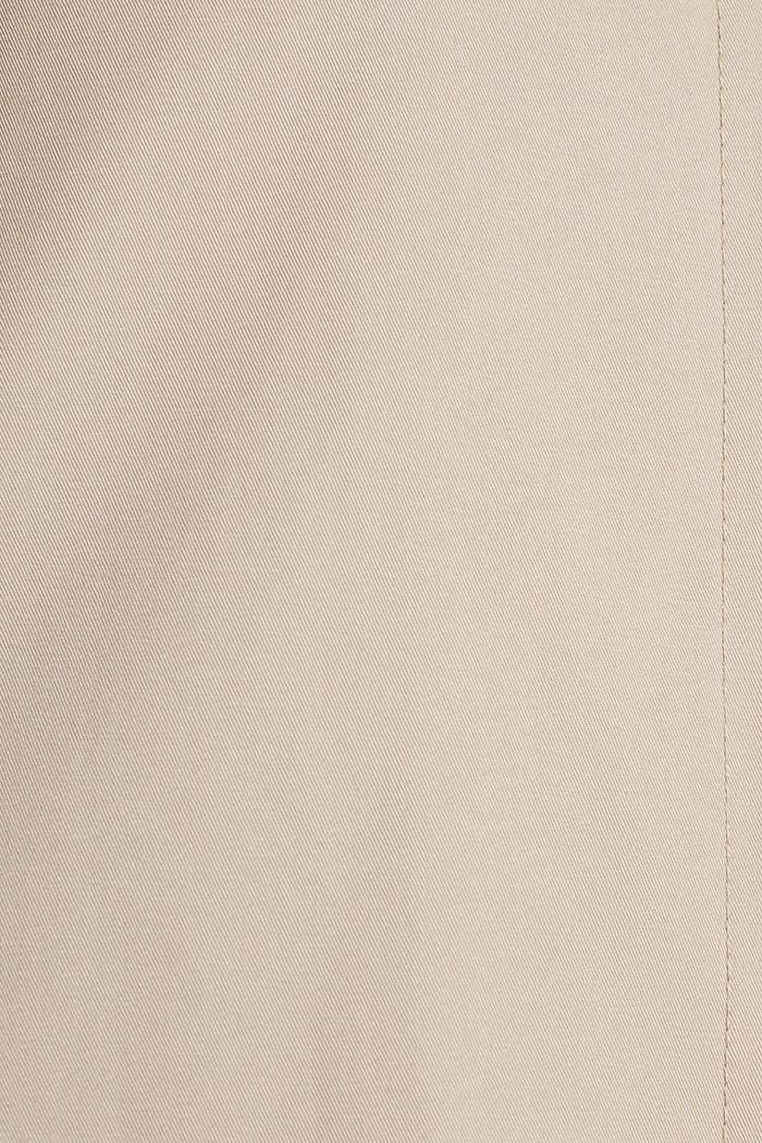 Baumwoll-Mantel mit hohem Stehkragen, BEIGE, detail image number 4