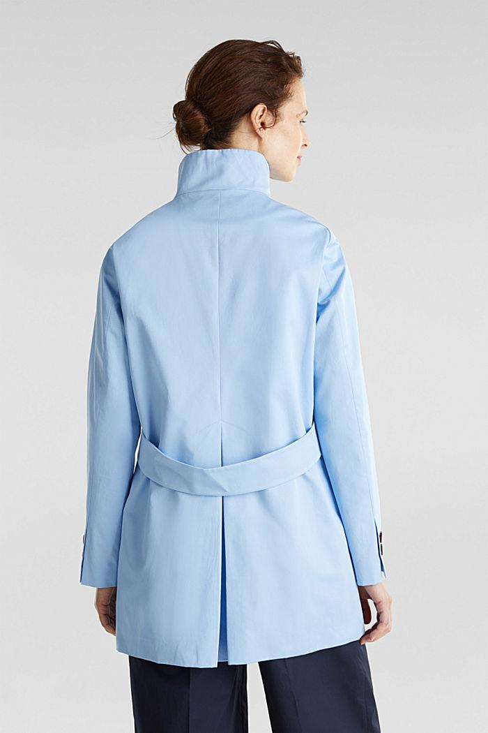 Baumwoll-Mantel mit hohem Stehkragen, LIGHT BLUE, detail image number 1