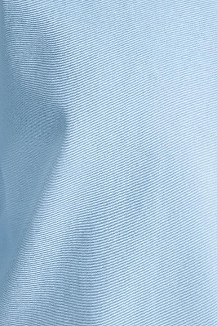 Baumwoll-Mantel mit hohem Stehkragen, LIGHT BLUE, detail image number 2