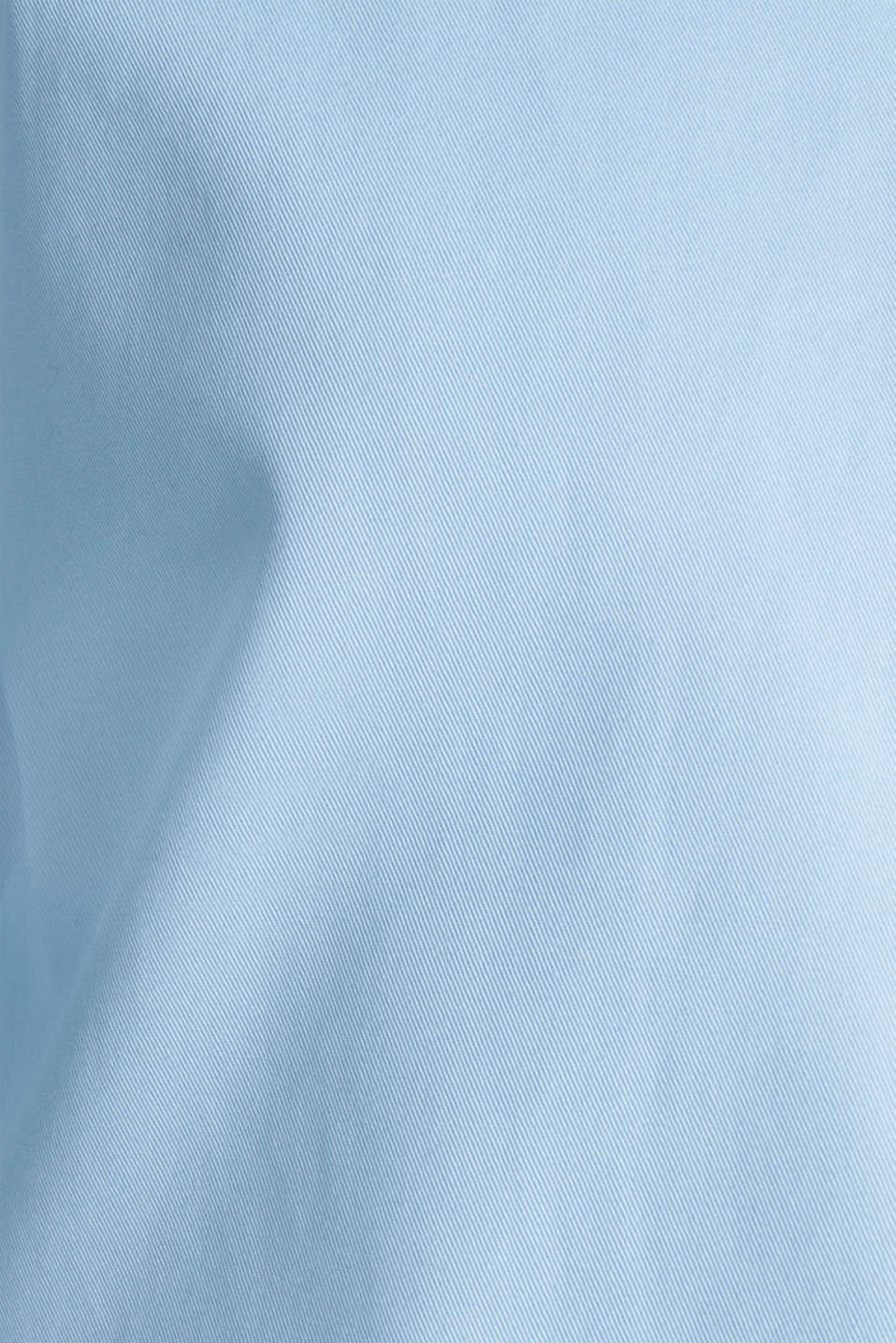 Cotton coat with a high stand-up collar, LIGHT BLUE, detail image number 2