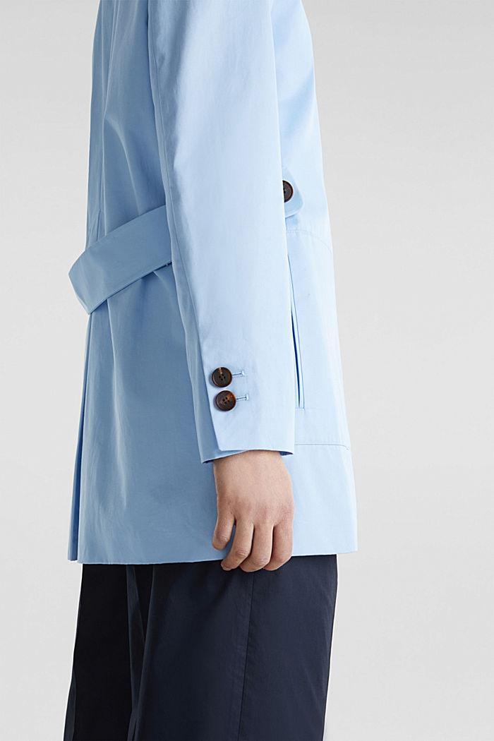 Baumwoll-Mantel mit hohem Stehkragen, LIGHT BLUE, detail image number 3