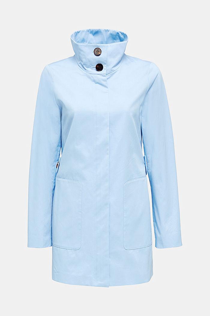 Baumwoll-Mantel mit hohem Stehkragen, LIGHT BLUE, detail image number 5