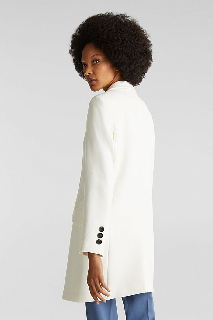Blazer coat with a fine texture, OFF WHITE, detail image number 3