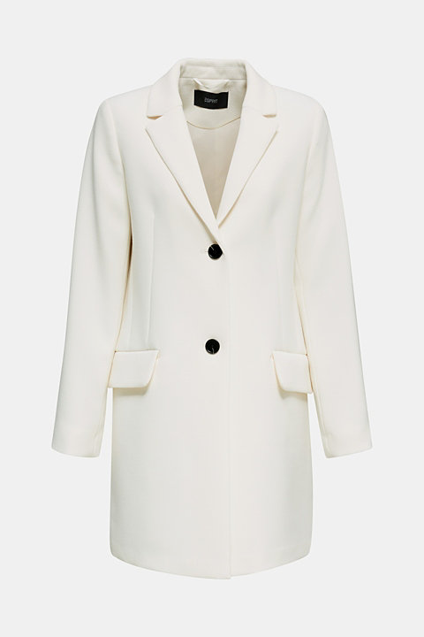 Blazer coat with a fine texture