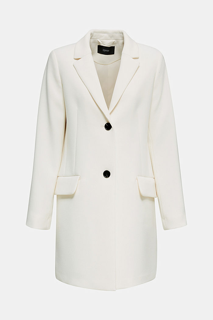 Blejzrový kabát s jemnou strukturou, OFF WHITE, detail image number 0