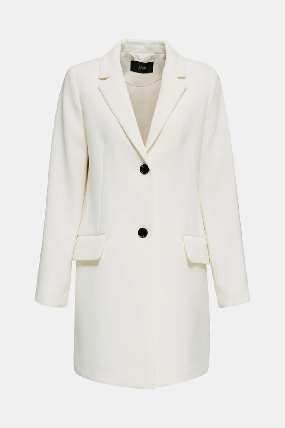 Blazer coat with a fine texture, OFF WHITE, detail image number 7