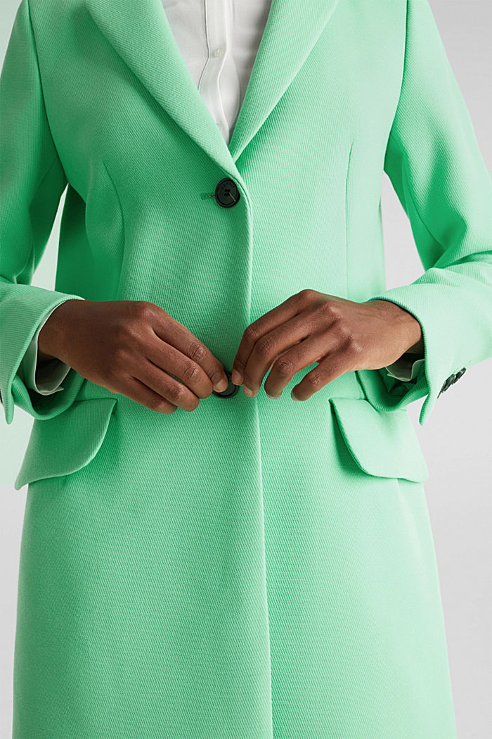 Blazer coat with a fine texture, LIGHT GREEN, detail image number 2