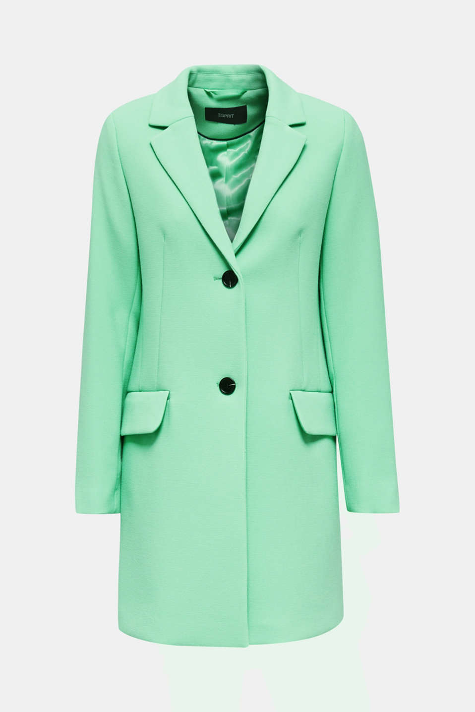 Blazer coat with a fine texture, LIGHT GREEN, detail image number 7