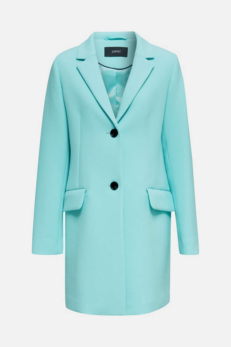 Blazer coat with a fine texture, LIGHT TURQUOISE, detail image number 6