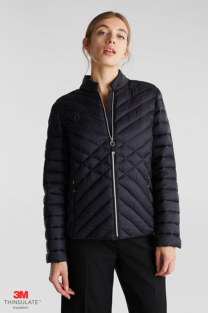 Quilted jacket with 3M™ Thinsulate™ padding, BLACK, detail image number 0