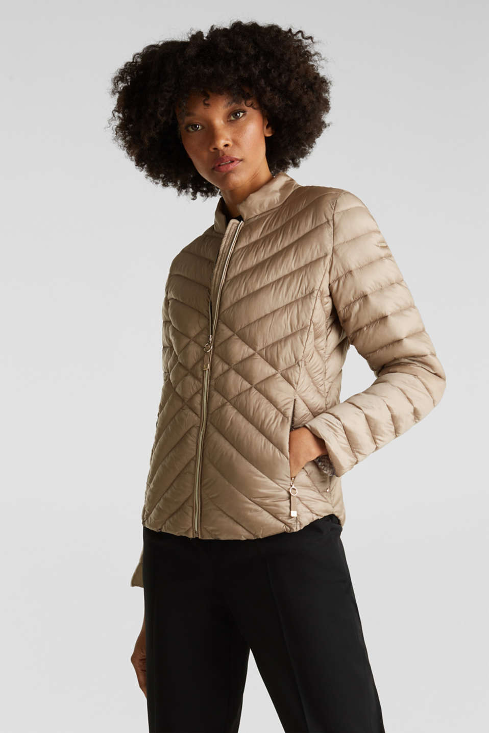 Jackets outdoor woven, LIGHT TAUPE, detail image number 0