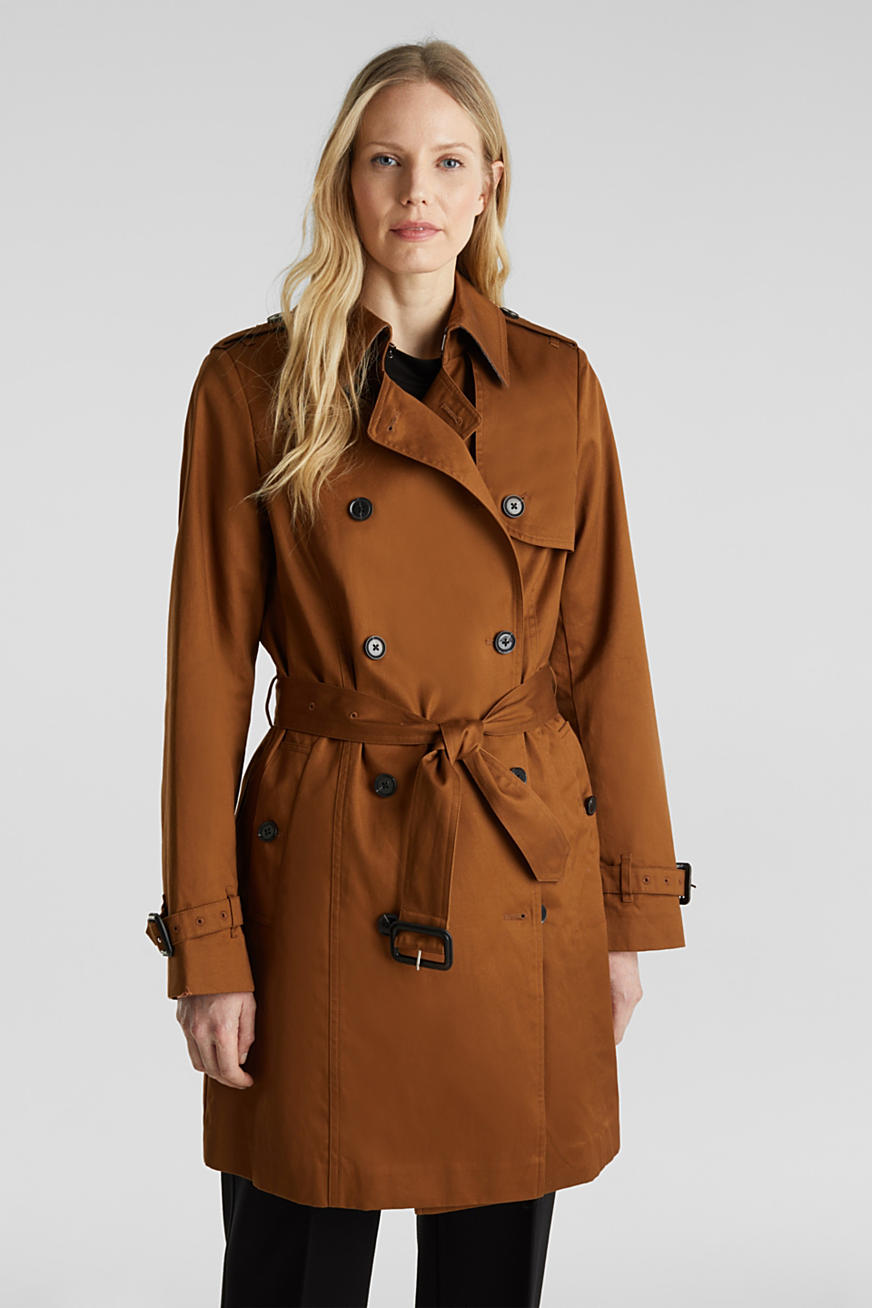 Double-breasted trenchcoat, 100% katoen