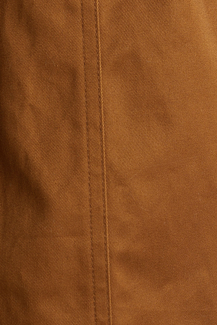 Zweireihiger Trenchcoat, 100% Baumwolle, TOFFEE, detail image number 3