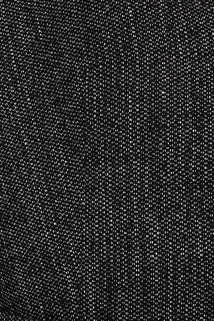 Blazer in Pfeffer- und Salz-Optik, BLACK, detail image number 4