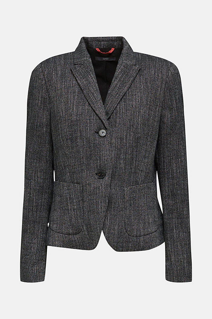 Blazer in a salt and pepper look