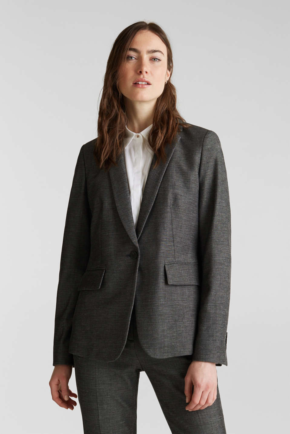 Esprit - SHINY STRUCTURE Mix + Match stretch-blazer