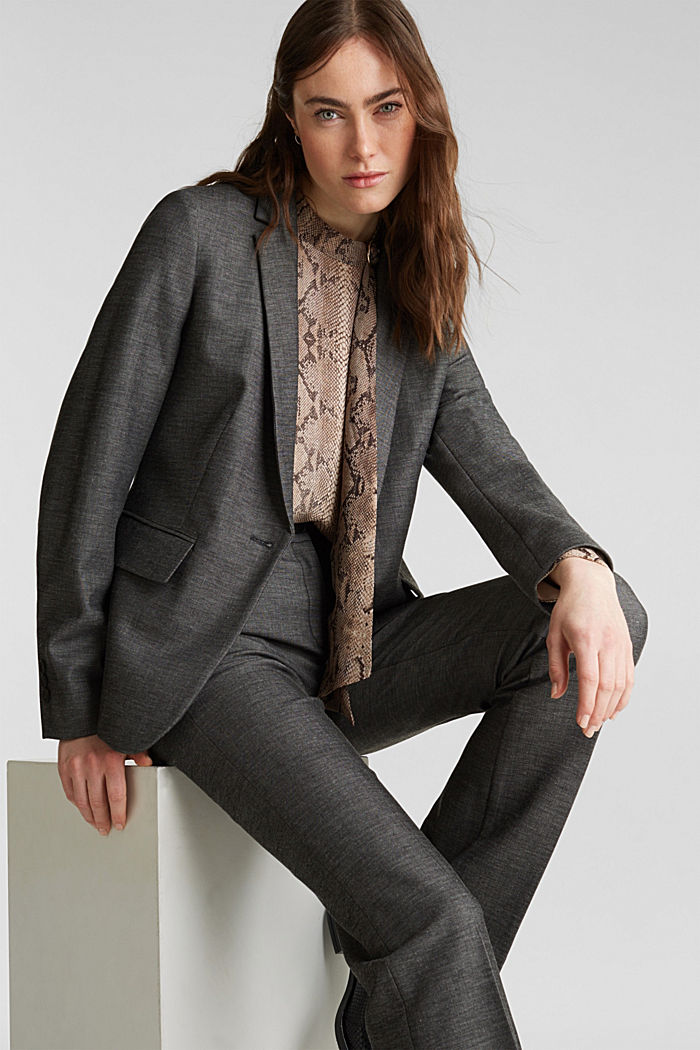 SHINY TEXTURE mix + match stretch blazer