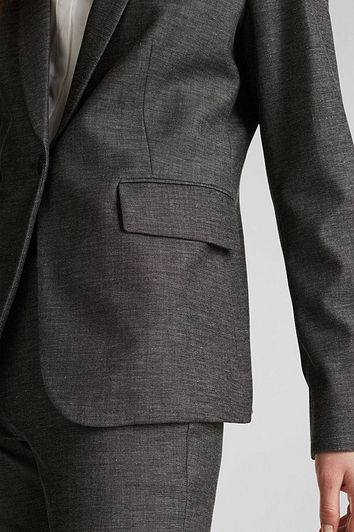 SHINY STRUCTURE Mix + Match Stretch-Blazer, DARK GREY, detail image number 4