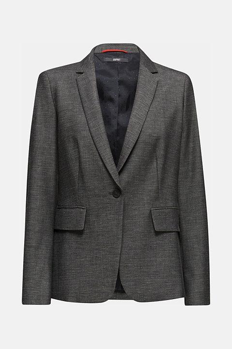 SHINY TEXTURE mix + match stretch blazer