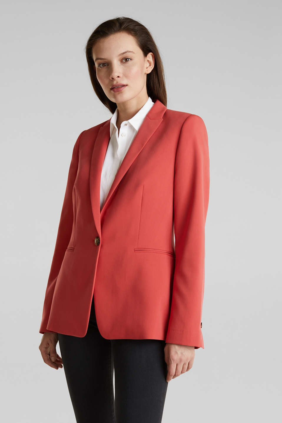 Esprit - SPRING TWILL Mix + Match Stretch-Blazer