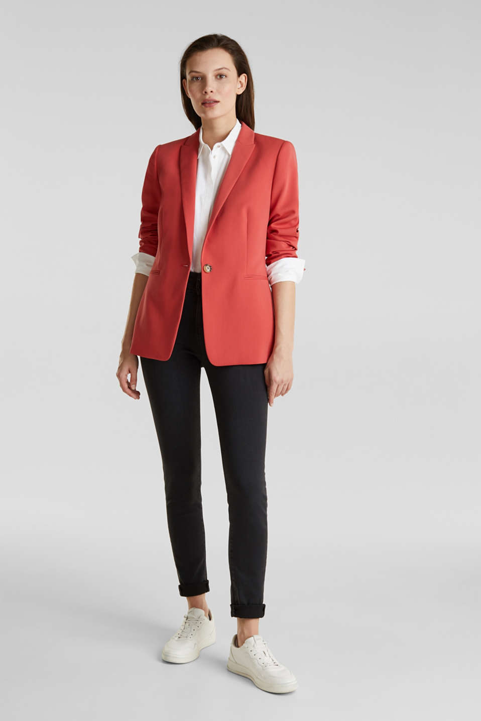 SOFT TEXTURE Mix + Match stretch blazer