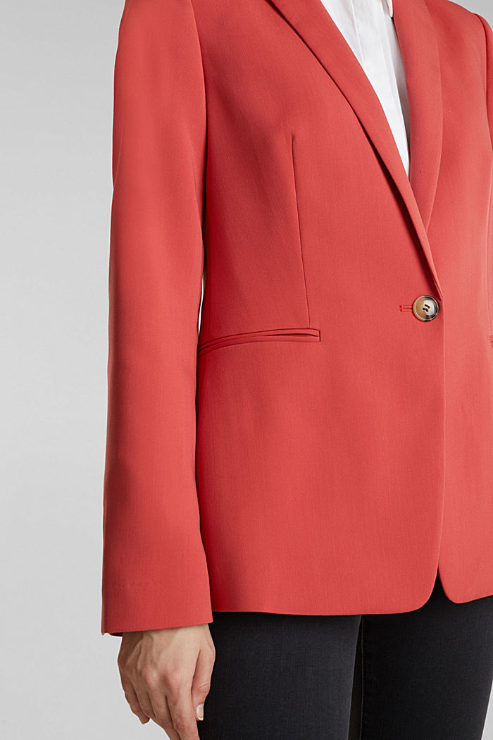 SPRING TWILL Mix + Match Stretch-Blazer, TERRACOTTA, detail image number 2