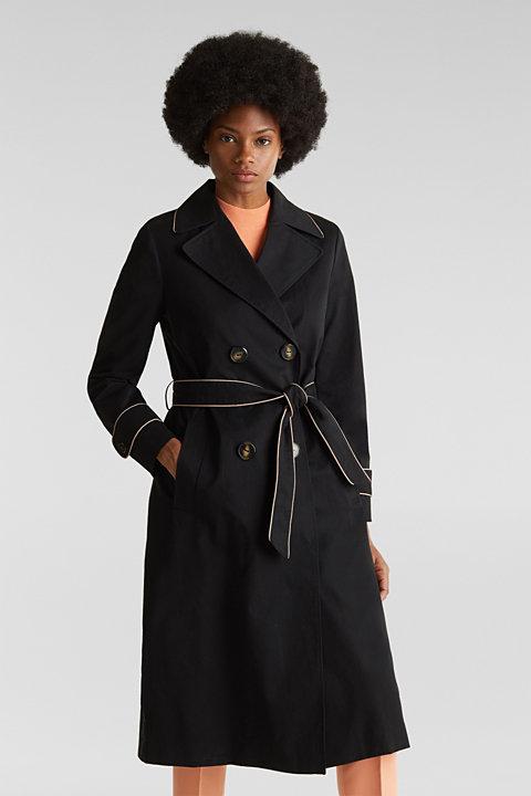 Coats woven