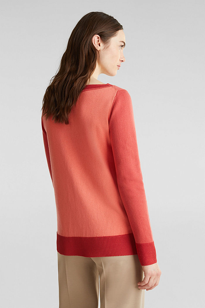 With silk: jumper with shiny details, TERRACOTTA, detail image number 3