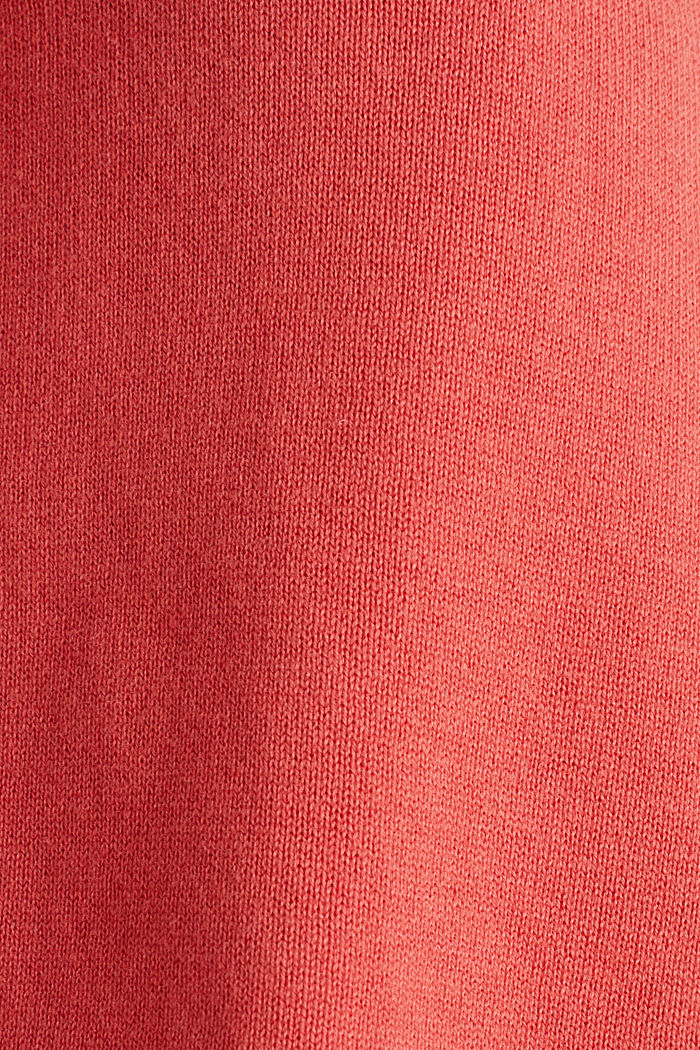 With silk: jumper with shiny details, TERRACOTTA, detail image number 4