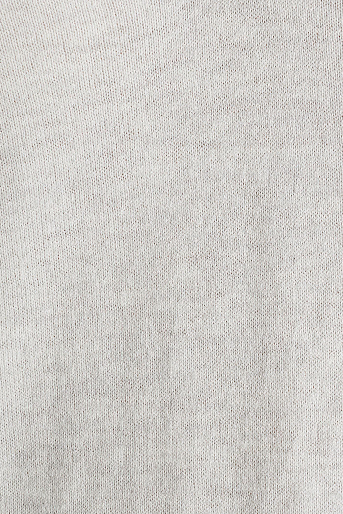 With silk: Jumper with a polo collar, LIGHT GREY, detail image number 4