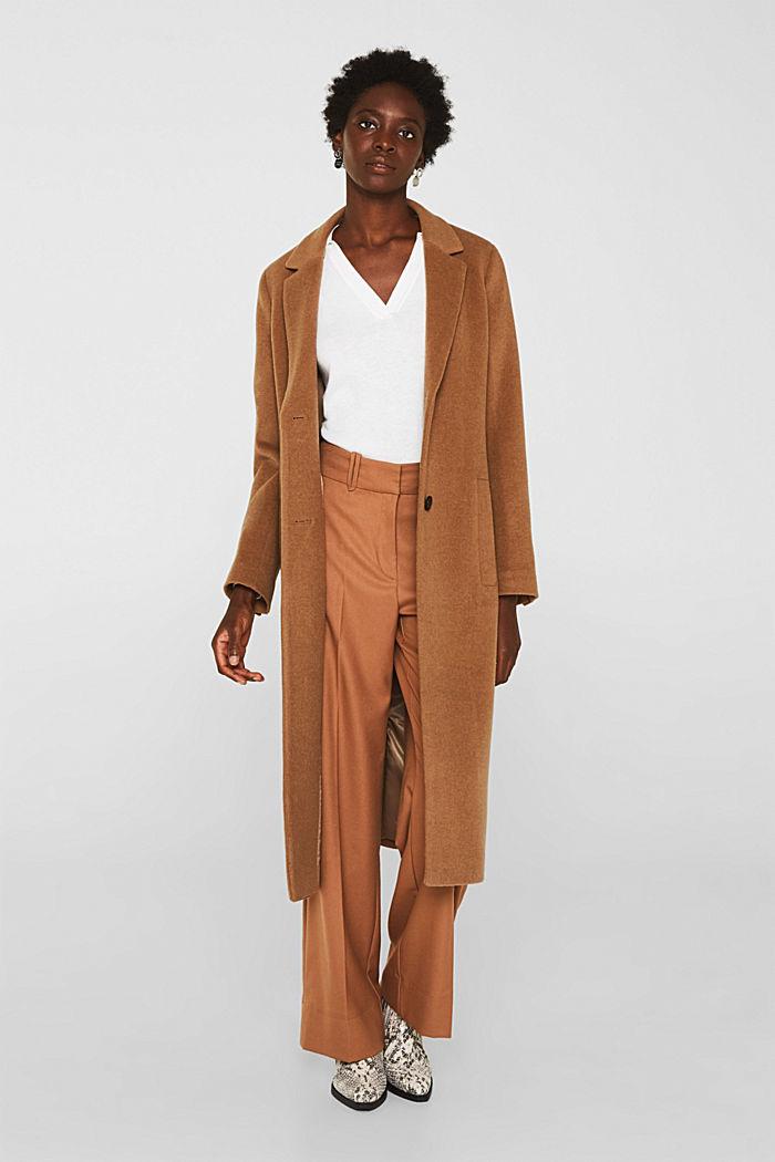 Mit Seide: Pullover mit Polo-Kragen, OFF WHITE, detail image number 1
