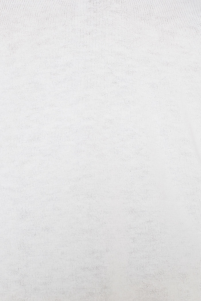With silk: Jumper with a polo collar, OFF WHITE, detail image number 2