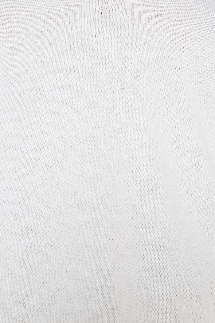 Mit Seide: Pullover mit Polo-Kragen, OFF WHITE, detail image number 2