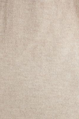 With silk: Jumper with a polo collar, SAND 5, detail