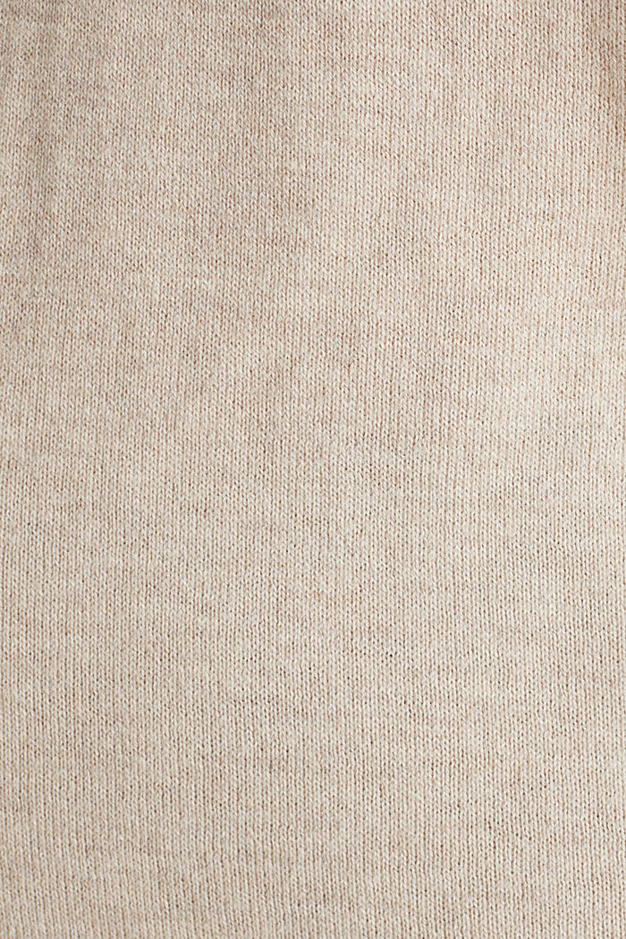 Mit Seide: Pullover mit Polo-Kragen, SAND, detail image number 4