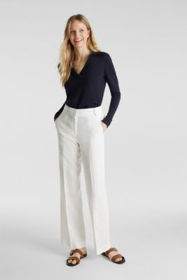 With silk: Jumper with a polo collar, NAVY, detail