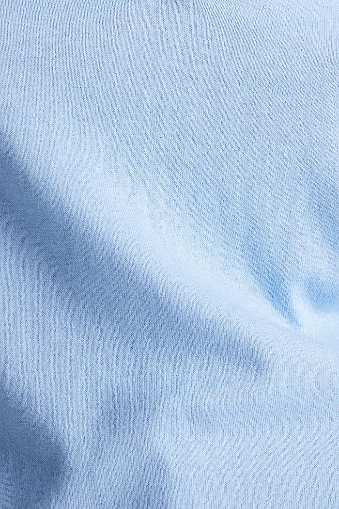 Mit Seide: Pullover mit Polo-Kragen, BLUE LAVENDER, detail image number 4