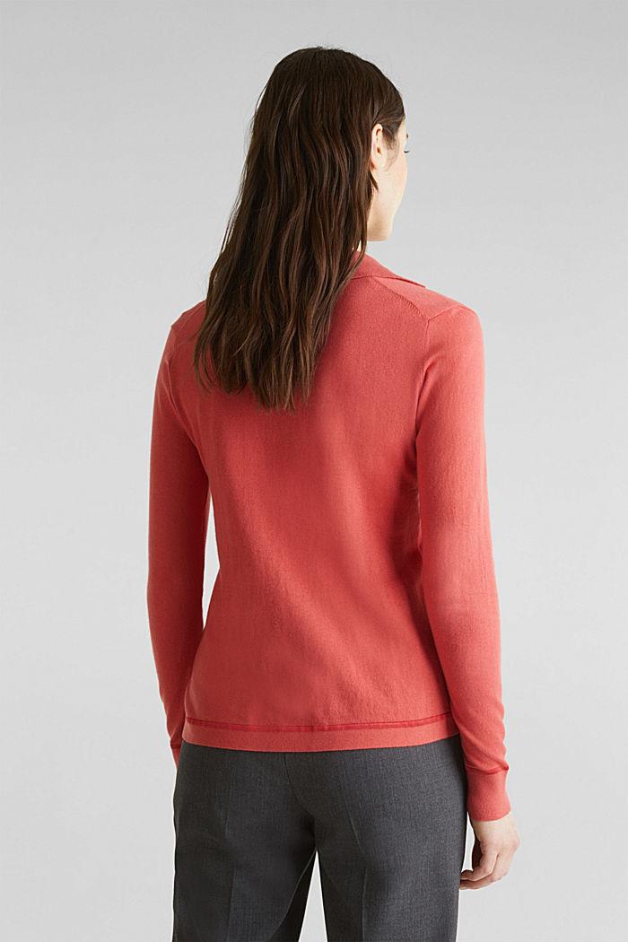 Med silke: pullover med polokrave, TERRACOTTA, detail image number 2
