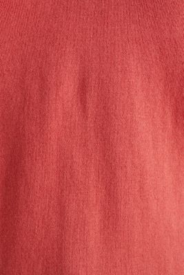 With silk: Jumper with a polo collar, TERRACOTTA, detail
