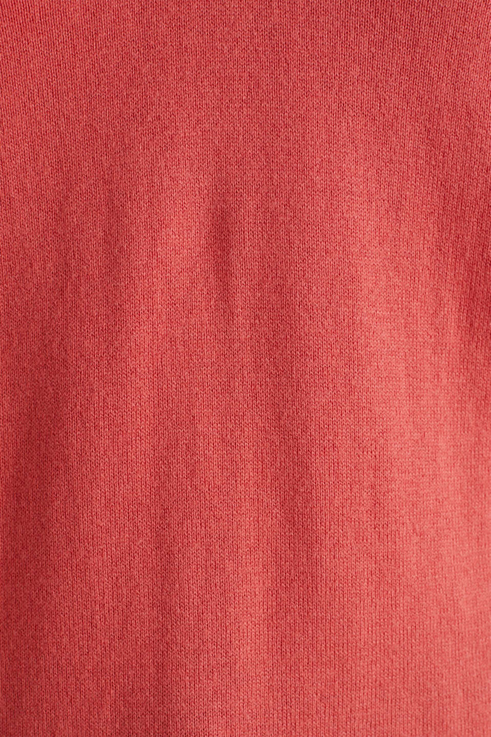 With silk: Jumper with a polo collar, TERRACOTTA, detail image number 3