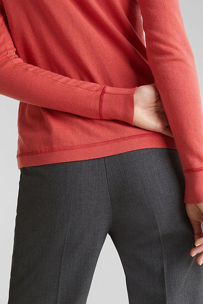 Med silke: pullover med polokrave, TERRACOTTA, detail image number 4