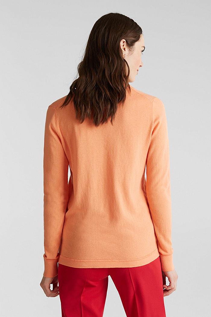 Mit Seide: Pullover mit Polo-Kragen, ORANGE, detail image number 3