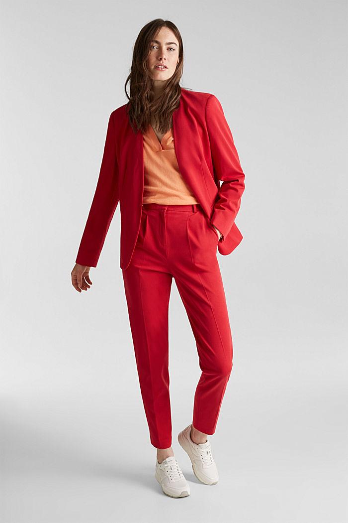 Mit Seide: Pullover mit Polo-Kragen, ORANGE, detail image number 1