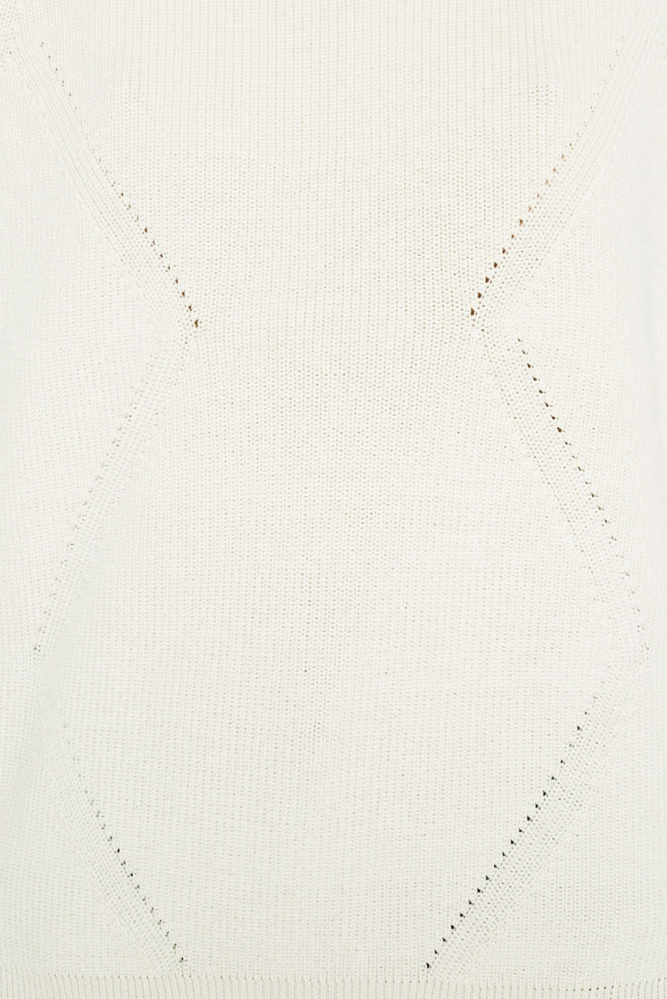 Jumper with a textured pattern, OFF WHITE, detail image number 4
