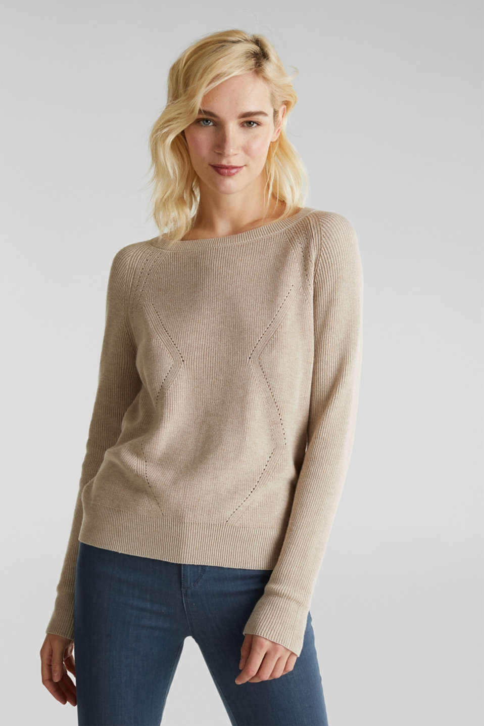 Esprit - Jumper with a textured pattern