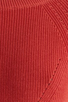 Jumper with a textured pattern, TERRACOTTA, detail