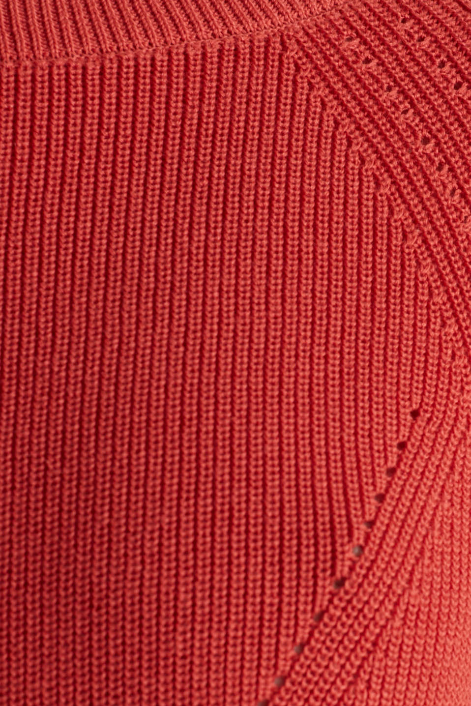 Jumper with a textured pattern, TERRACOTTA, detail image number 4